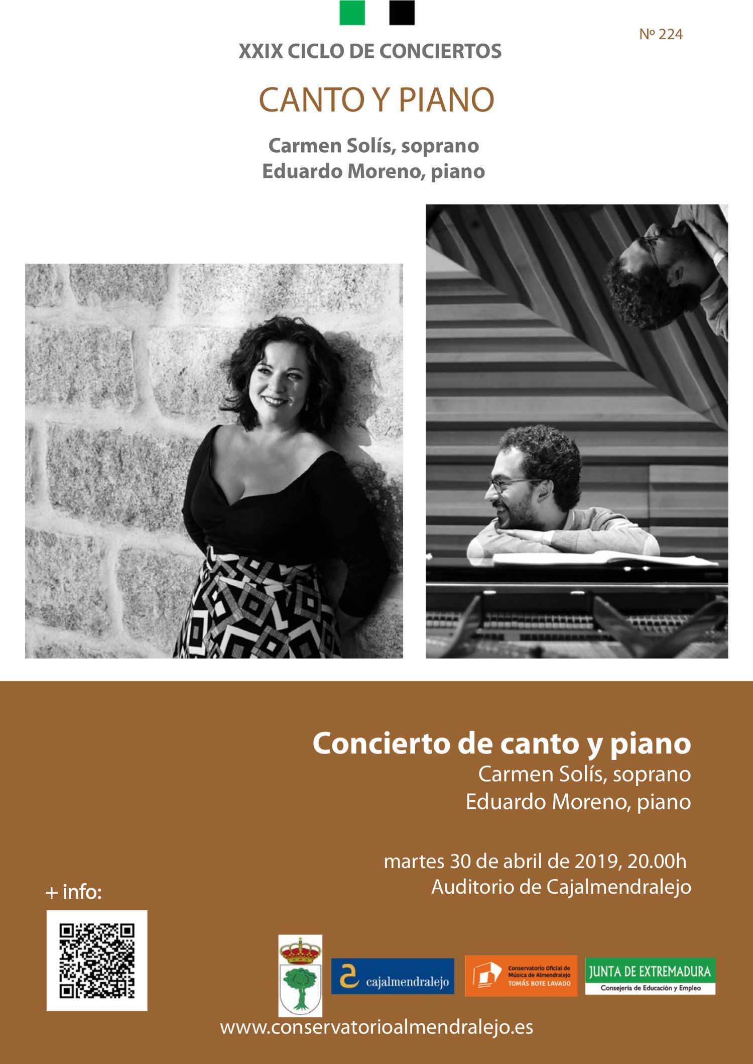 59faf2272 XXIX Ciclo Conciertos  Carmen Solís y Eduardo Moreno - COM Almendralejo